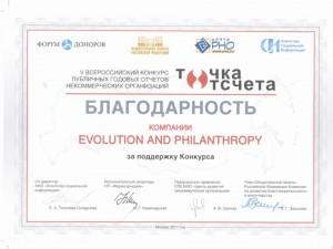 Благодарность за поддежку конкурса Точка отсчета_2011